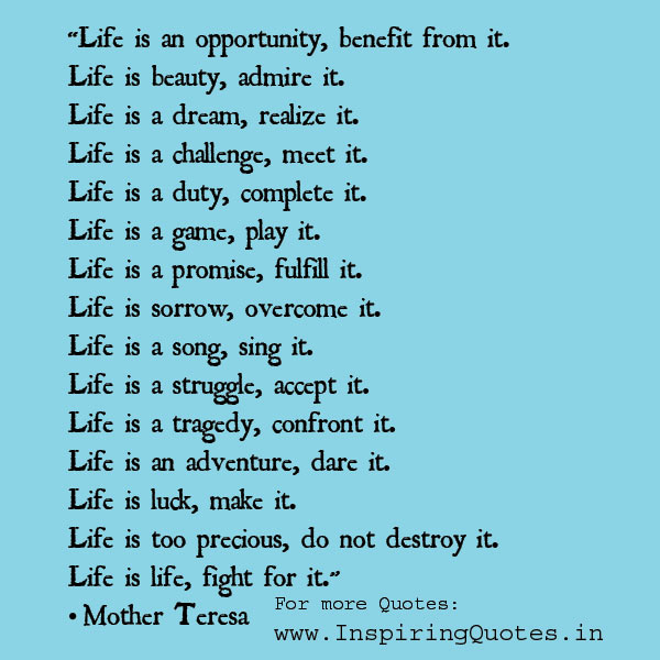 Mother Teresa Live Quotes Images