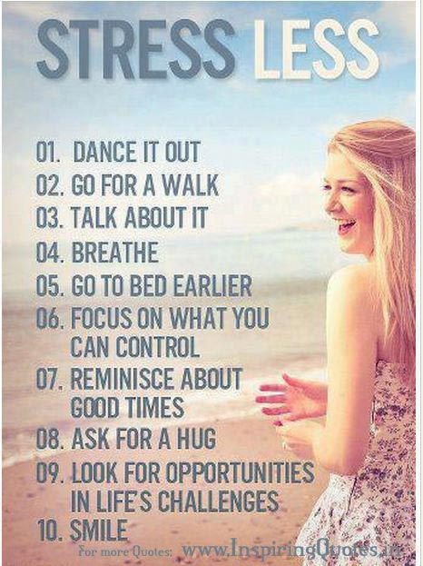 10 useful tips for stress less life