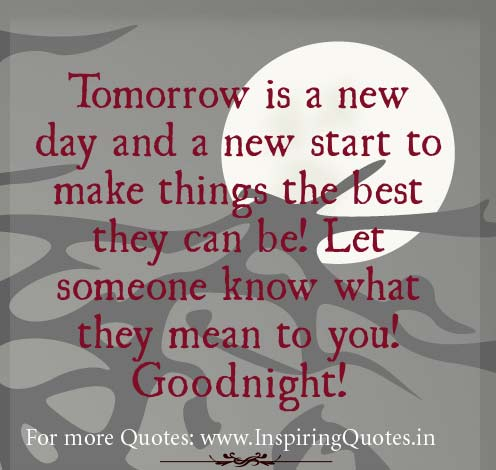 Good Night Wishes - Inspirational Good Night Quotes