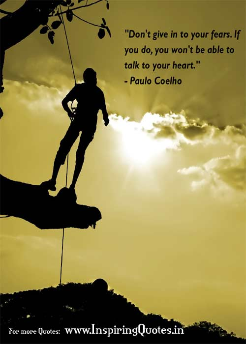Paulo Coelho Quotes Thought on Fears Images Wallpapers