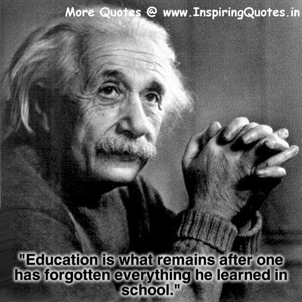 Albert Einstein Quotes on Education, Thoughts Sayings Images Wallpapers Pictures Photos