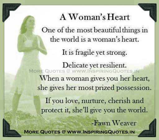Women Quotes,Thoughts on Women's heart - Inspirational Pictures Images Wallpapers Pictures Photos